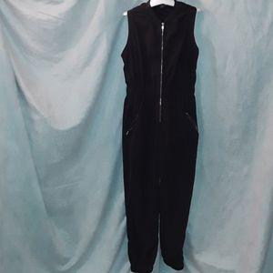 Rue 21 black jumper gold zipper sleeveless